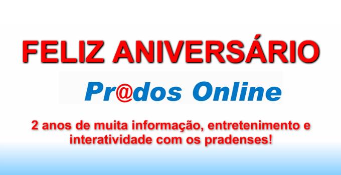Feliz aniversário Prados Online!