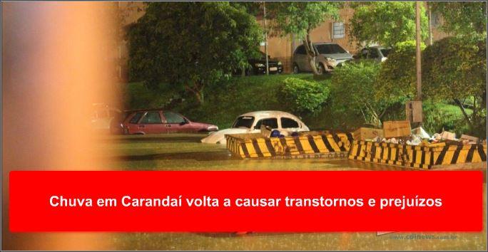 Chuva em Carandaí volta a causar transtornos e prejuízos