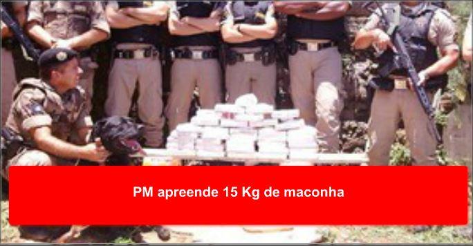 PM apreende 15 Kg de maconha