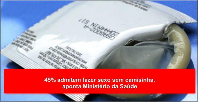 45% admitem fazer sexo sem camisinha, aponta Ministério da Saúde