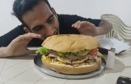 Imagina um sanduíche de quase 2 Kg. Ele existe...