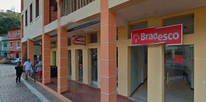 Na imagem, fachada do P.A. do Bradesco, em Prados- Foto: Google