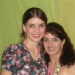 Danielle e sua mãe Marcelene