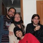 Dona Katia e seus filhos: Daniel, Fernando e André