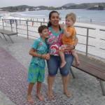 João Vitor e a mamãe Andrêzza