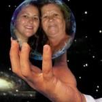 Leila e sua mãe Eva Neri