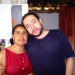 Rodrigo e sua mãe Maria
