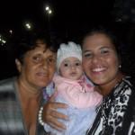 Vovó Rosângela, Fernanda e a nenensinha Sofia