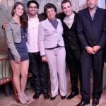 Fabio, Thiago, Alexandre, Franciane e sua mãe Gisa