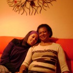 Sandra e sua mãe Trindade