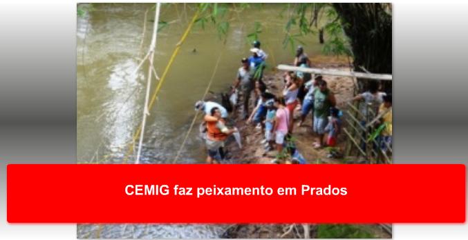 CEMIG faz peixamento em Prados