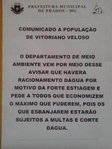 Panfleto distribuído em Bichinho. Clique para ampliar