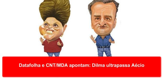 Datafolha e CNT/MDA apontam: Dilma ultrapassa Aécio