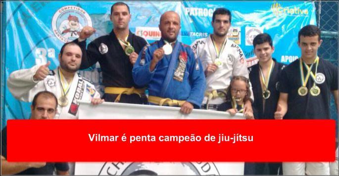Vilmar é penta campeão de jiu-jítsu