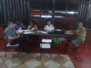 Da esquerda para a direita: O vice-presidente da ADESP Rodrigo Oliveira, os participantes Cidinei e Ana, o presidente da ADESP Ivan Carlos, o participante Merinho.