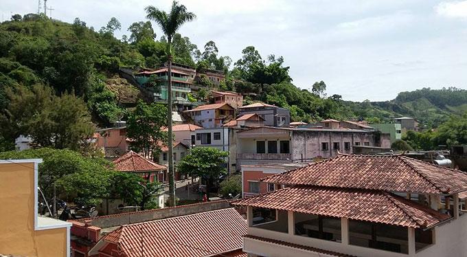 Vista Parcial do centro de Prados MG, estelionatários agiram na cidade. Foto: Flávio Oliveira