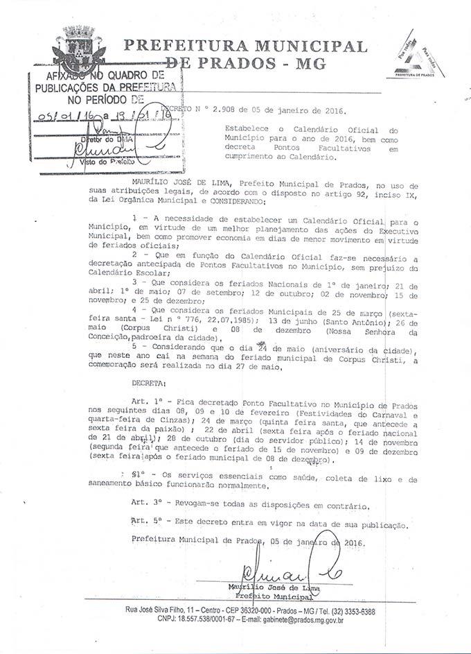 Decreto-nº-2.908---Calendário-oficial-do-Município--2016