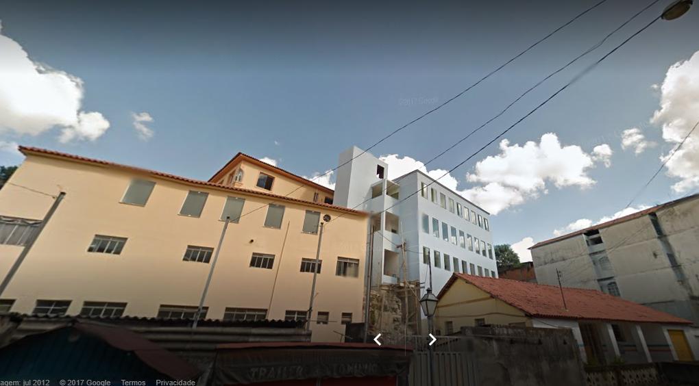 Vista parcial da Santa Casa e batalhão da PM de Prados