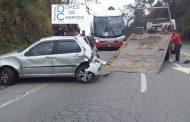 Ônibus da São Vicente se envolve em acidente entre Barbacena e Barroso