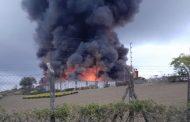 Incêndio de grandes proporções atinge Marluvas, em Dores de Campos