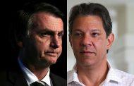 ELEIÇÕES 2018: Segundo Ibope Bolsonaro tem hoje 59% das intenções contra 41% de Haddad
