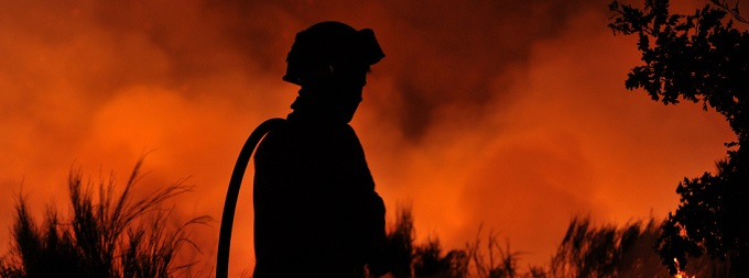 o inferno das chamas e o seu combate