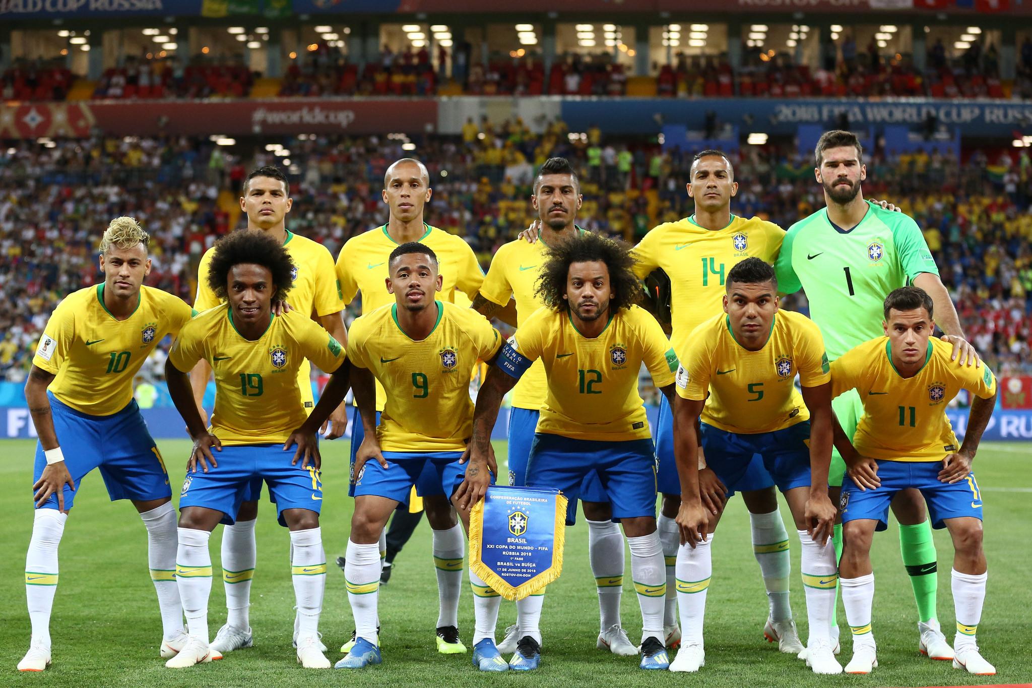 Brasil x Suíça pelo primeiro jogo da Copa do Mundo 2018. Lucas Figueiredo/CBF